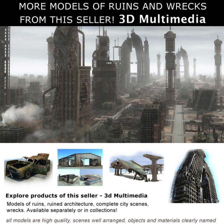 Debris Rubble Ruin royalty-free 3d model - Preview no. 7