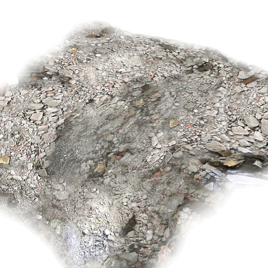 Debris Rubble Ruin royalty-free 3d model - Preview no. 2
