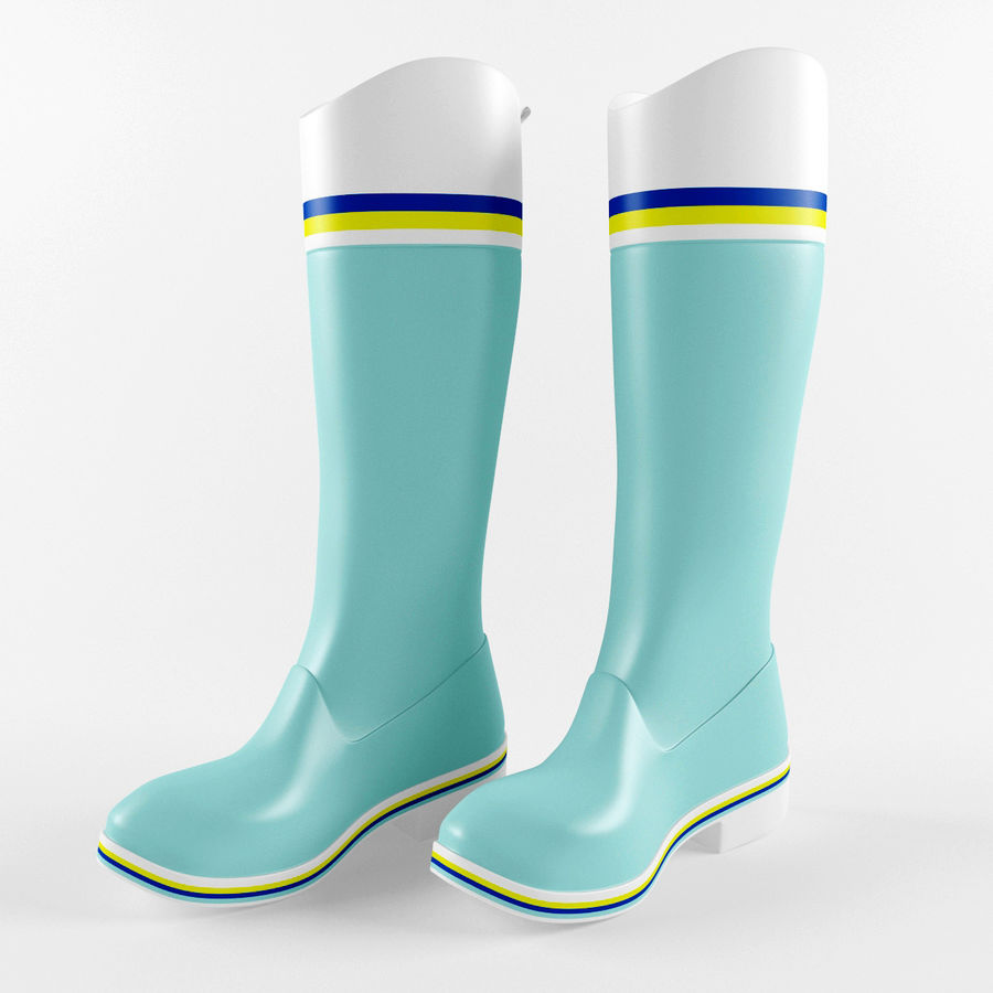 Rain Boot royalty-free 3d model - Preview no. 1