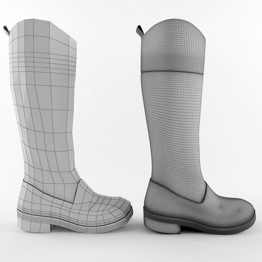 Rain Boot royalty-free 3d model - Preview no. 6