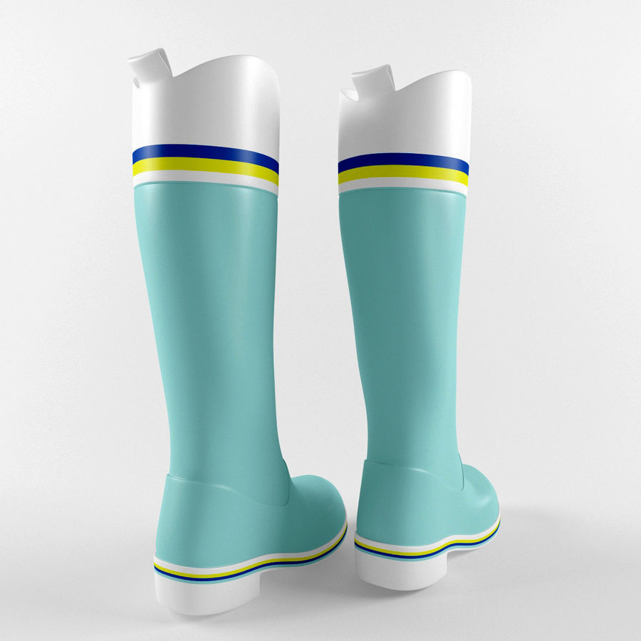Rain Boot royalty-free 3d model - Preview no. 3