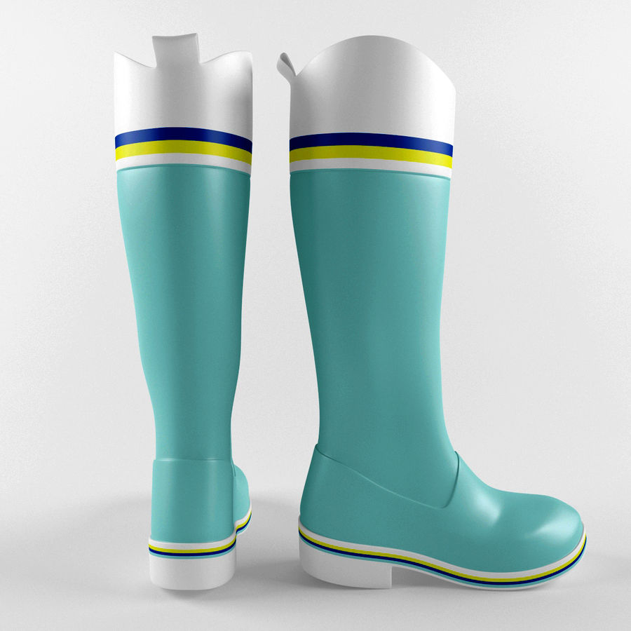 Rain Boot royalty-free 3d model - Preview no. 2
