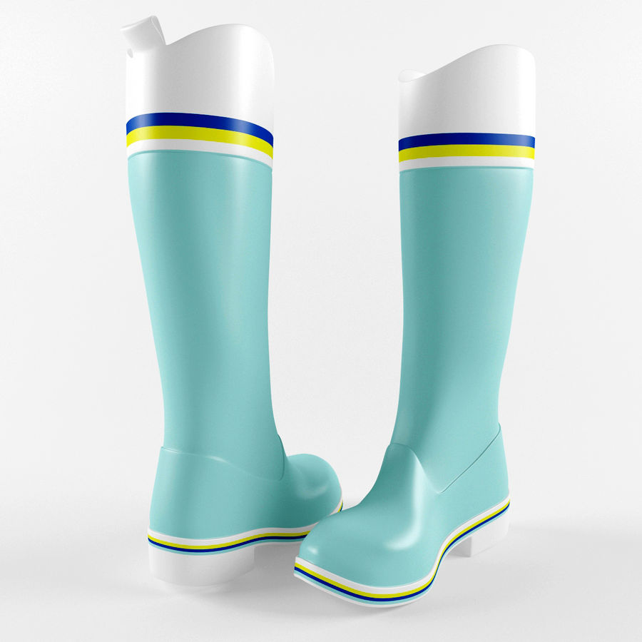 Rain Boot royalty-free 3d model - Preview no. 4