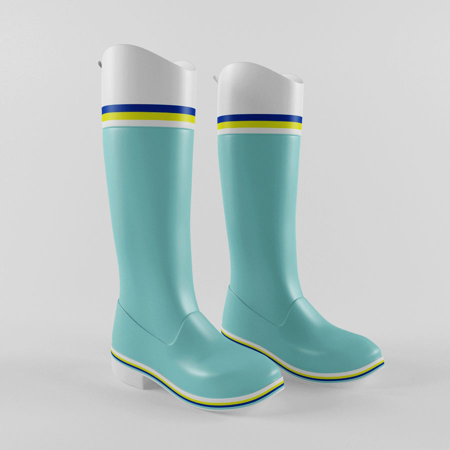 Rain Boot royalty-free 3d model - Preview no. 5