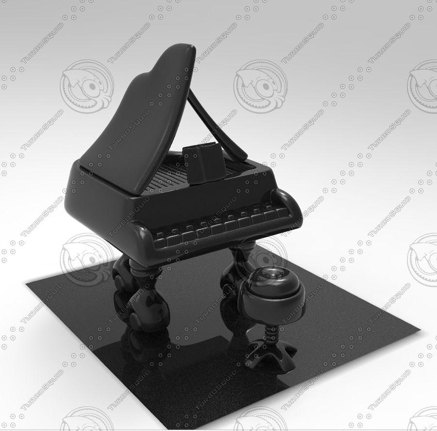 ピアノ royalty-free 3d model - Preview no. 3