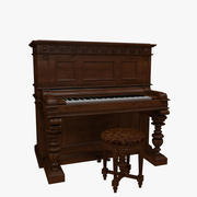 Piano vertical vitoriano 3d model