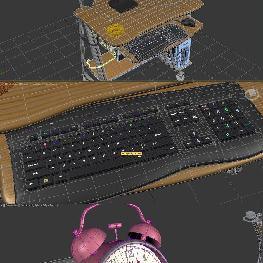 Computer tafel royalty-free 3d model - Preview no. 4