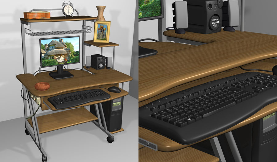 Computer tafel royalty-free 3d model - Preview no. 2