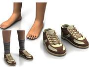 zapato de pie modelo 3d