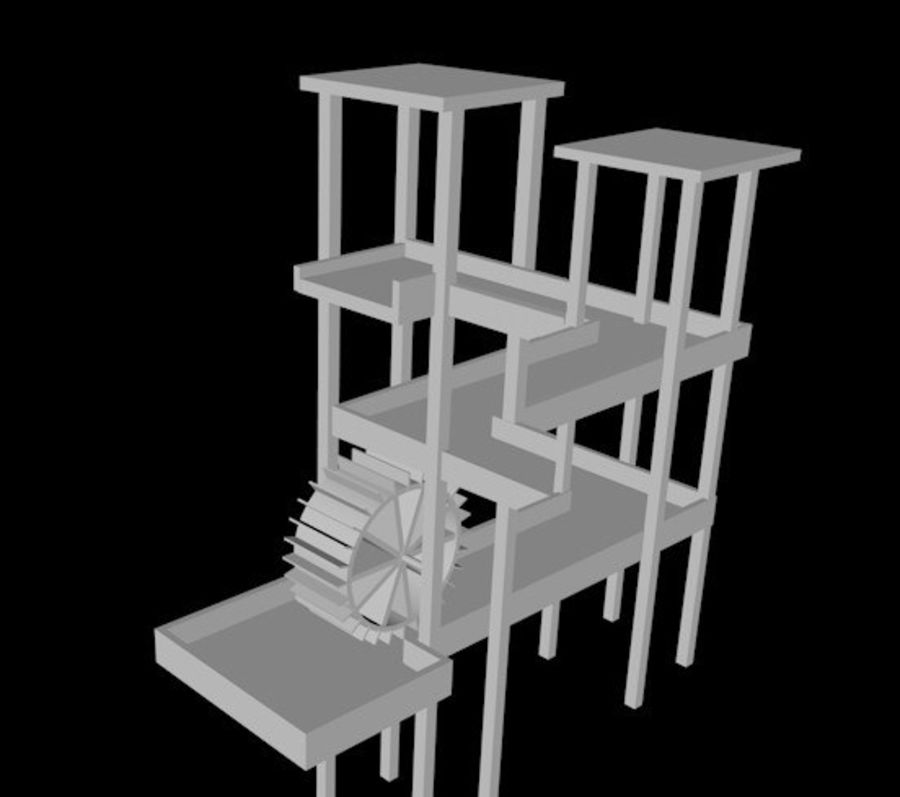 Şelale Escher royalty-free 3d model - Preview no. 4