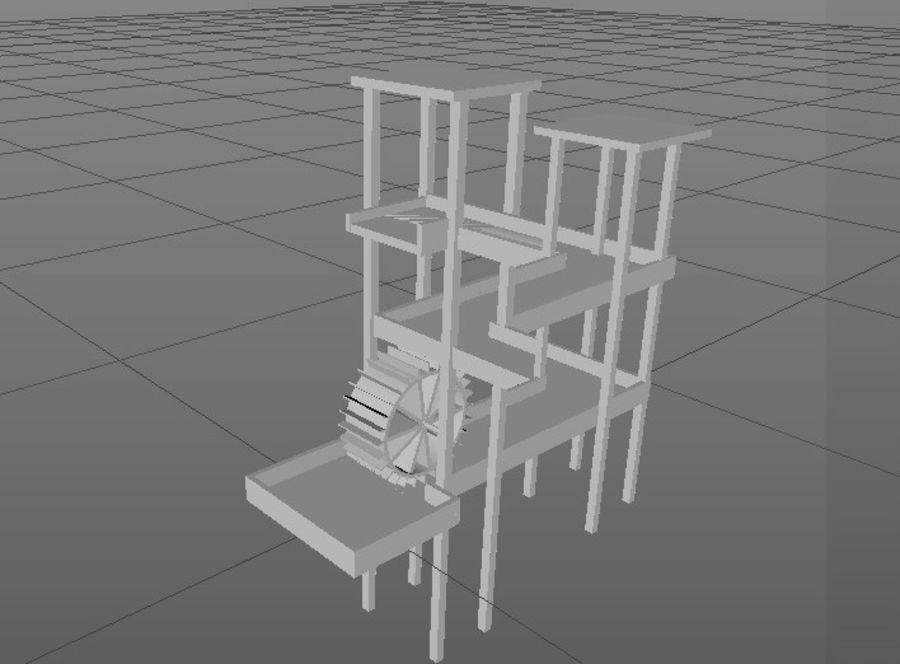 Vattenfall Escher royalty-free 3d model - Preview no. 2