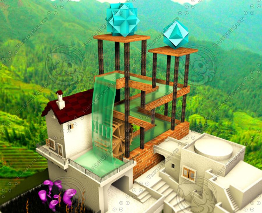 Vattenfall Escher royalty-free 3d model - Preview no. 1