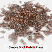 Brick Simple Debris Plane Stone Debris Pile Detailed V ray v-ray Vray detail red dirty old dirt soil 3d model