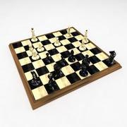 zestaw szachownicy 3d model