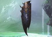 Blue dragon shield 3d model