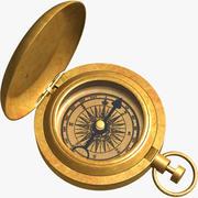 Solid Brass Compass 3d model