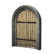 아치형 문 3d model