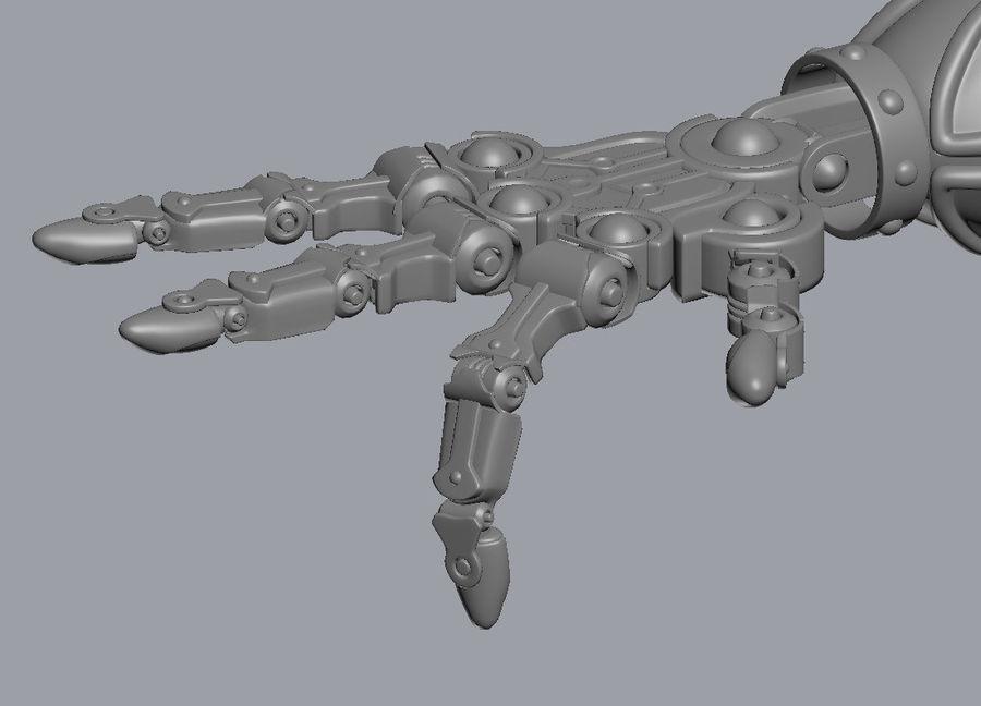 机械手掌机 royalty-free 3d model - Preview no. 1