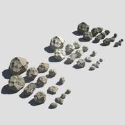 低ポリ岩 3d model
