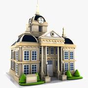 Cartoon City Hall 3d model