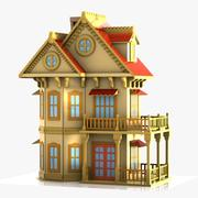 Cartoon House (12) 3d model