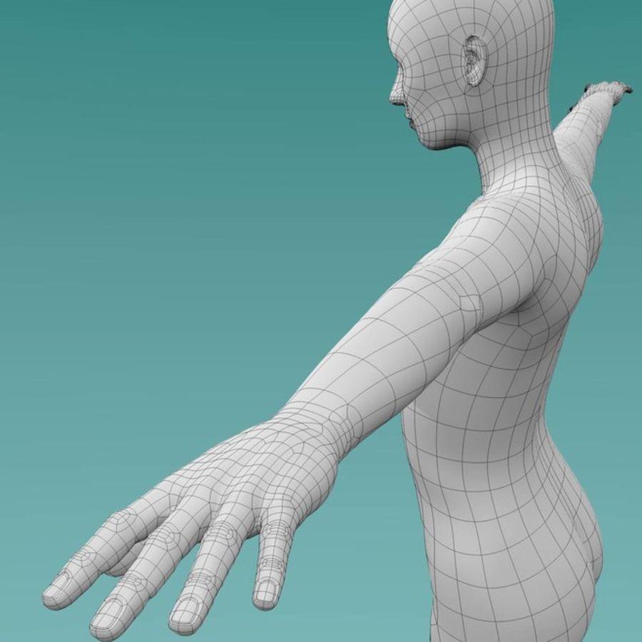 Female base mesh royalty-free 3d model - Preview no. 10