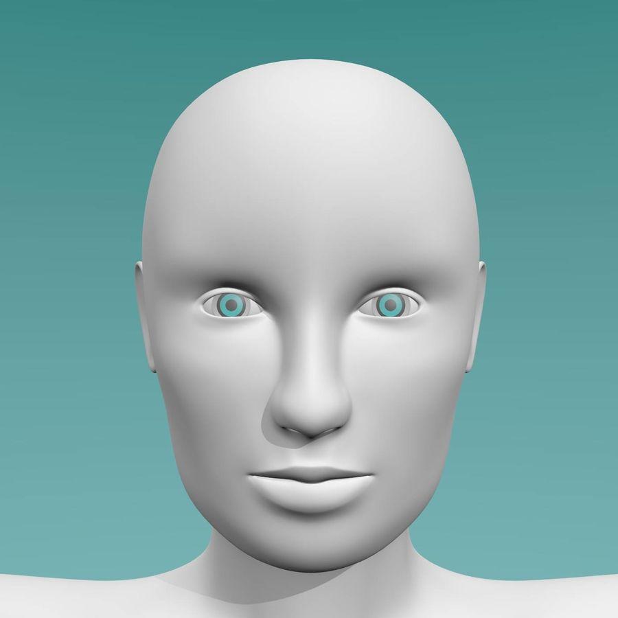 Female base mesh royalty-free 3d model - Preview no. 1
