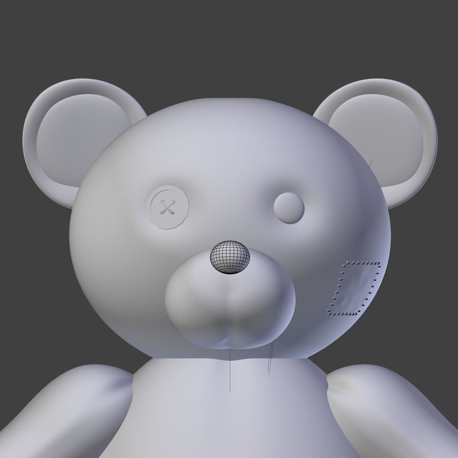 Teddy Bear High Poly royalty-free 3d model - Preview no. 19