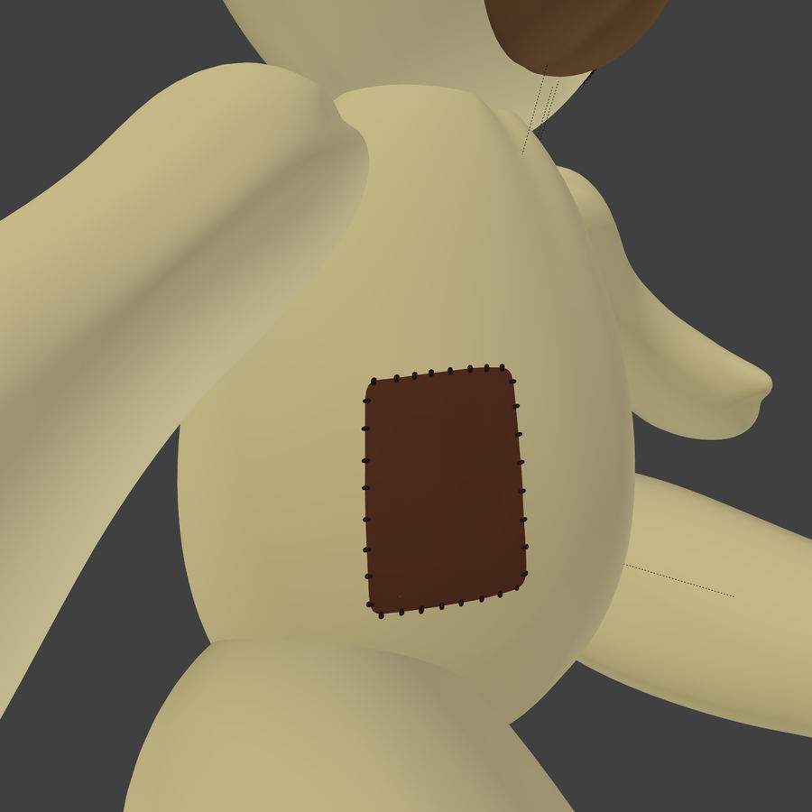 Teddy Bear High Poly royalty-free 3d model - Preview no. 12