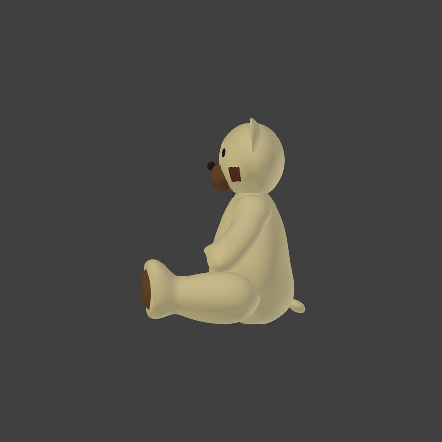 Teddy Bear High Poly royalty-free 3d model - Preview no. 5