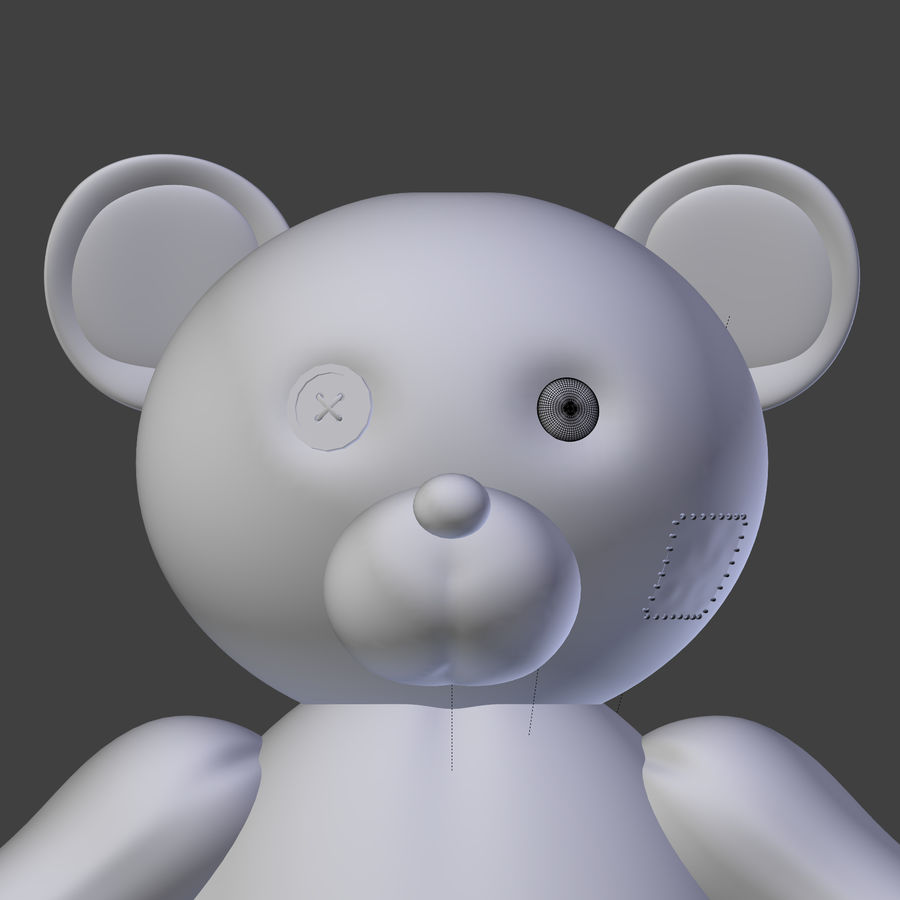 Teddy Bear High Poly royalty-free 3d model - Preview no. 20
