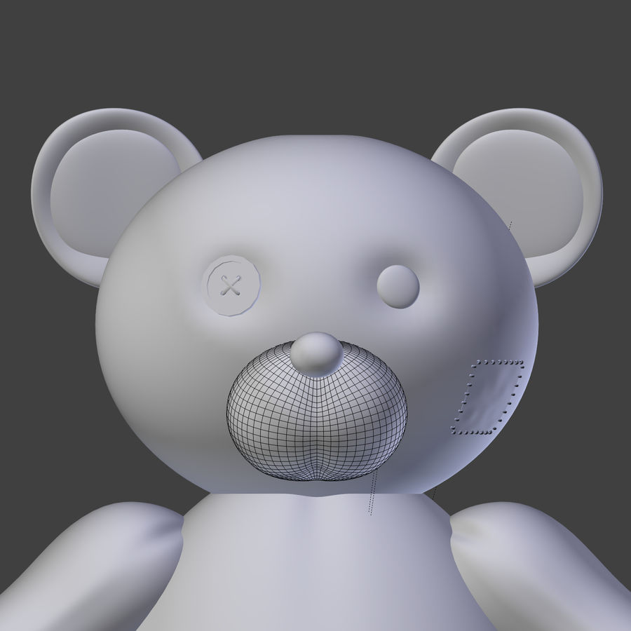 Teddy Bear High Poly royalty-free 3d model - Preview no. 18