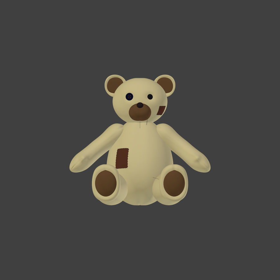 Teddy Bear High Poly royalty-free 3d model - Preview no. 1