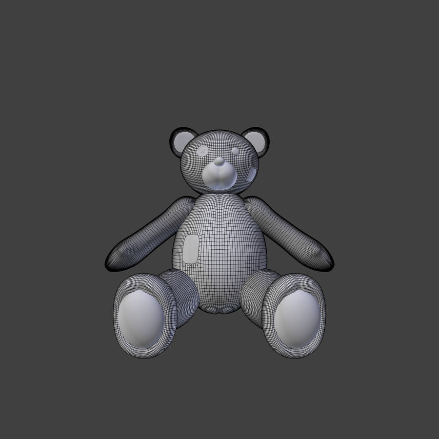 Teddy Bear High Poly royalty-free 3d model - Preview no. 13