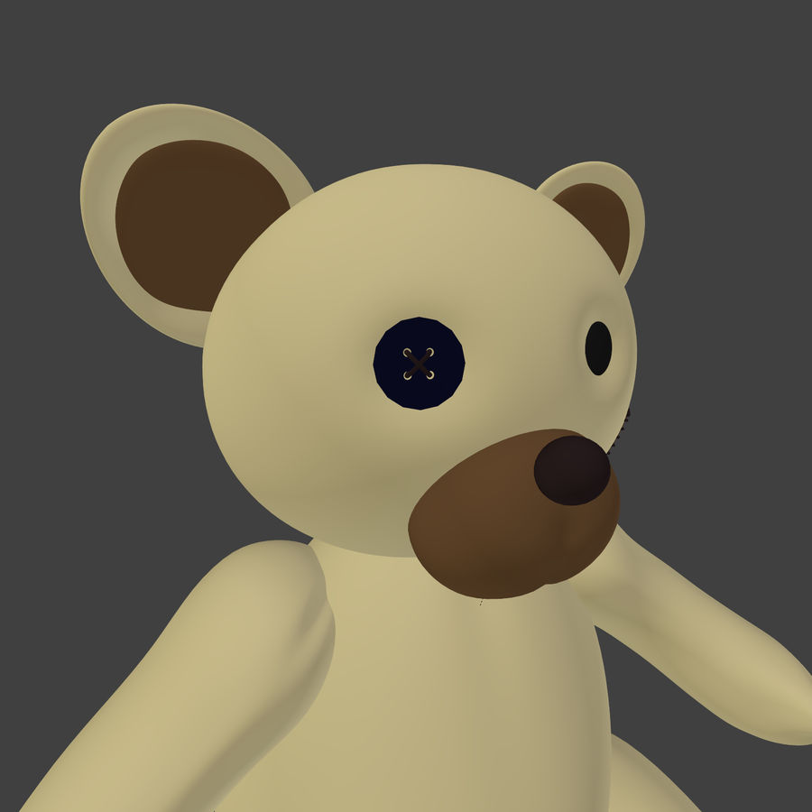 Teddy Bear High Poly royalty-free 3d model - Preview no. 10