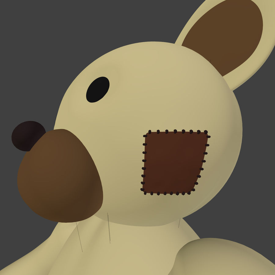 Teddy Bear High Poly royalty-free 3d model - Preview no. 11
