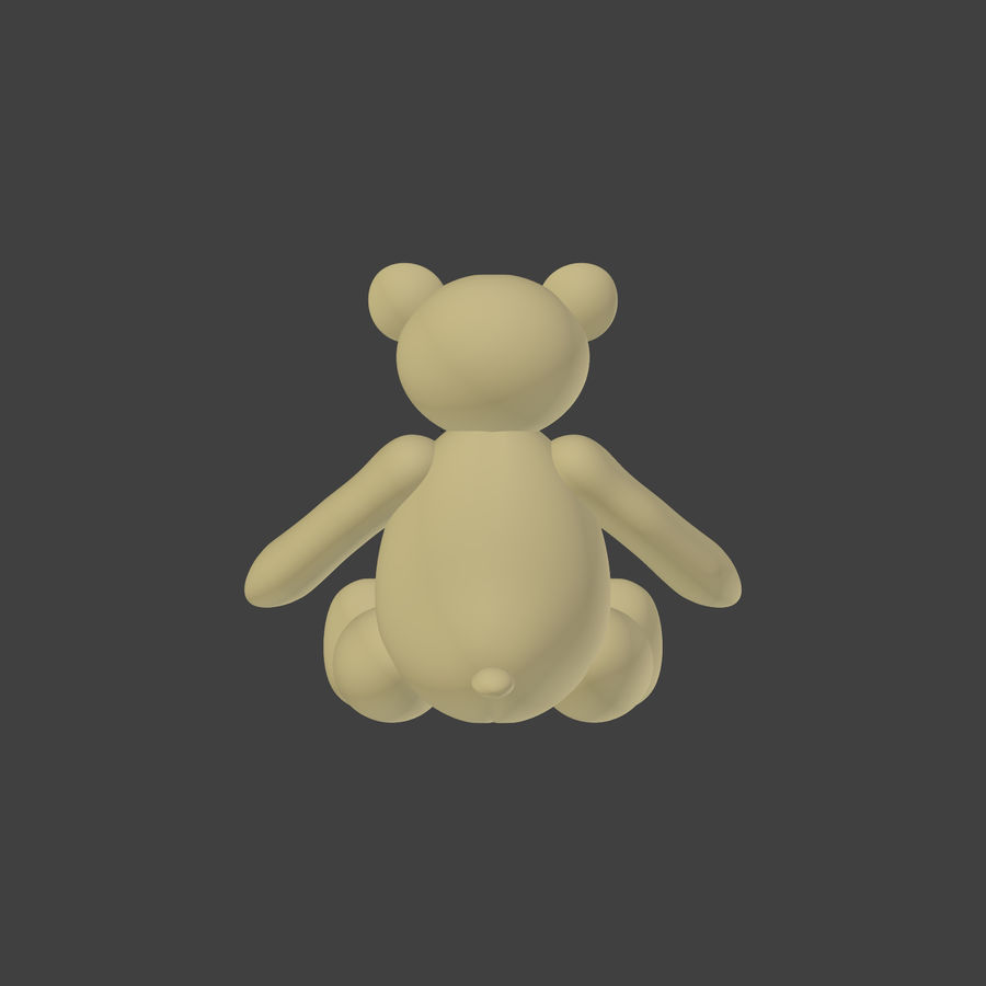 Teddy Bear High Poly royalty-free 3d model - Preview no. 6