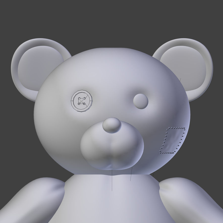 Teddy Bear High Poly royalty-free 3d model - Preview no. 21