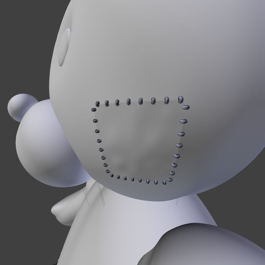 Teddy Bear High Poly royalty-free 3d model - Preview no. 14