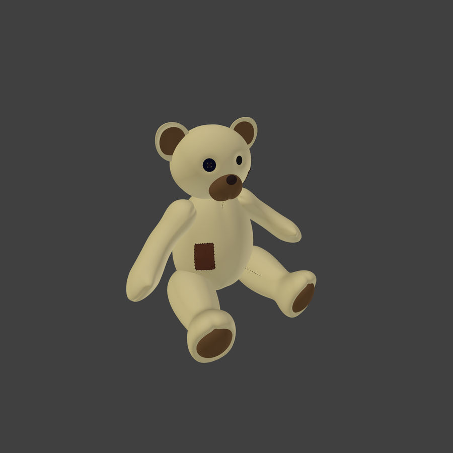 Teddy Bear High Poly royalty-free 3d model - Preview no. 8