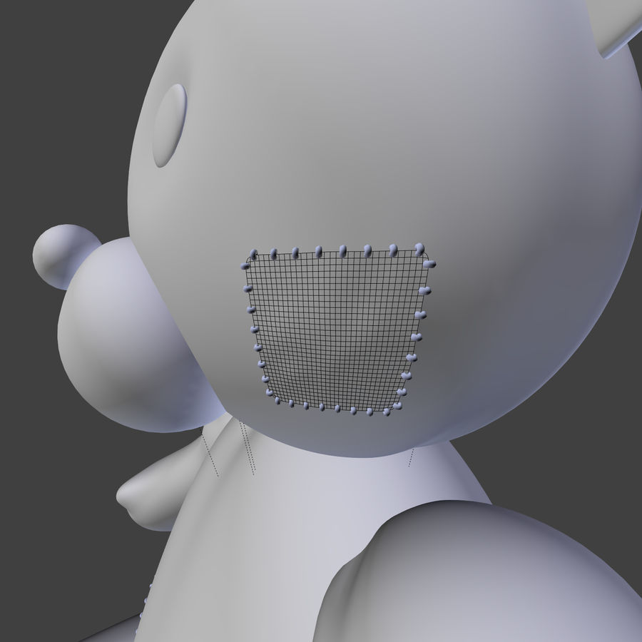Teddy Bear High Poly royalty-free 3d model - Preview no. 24