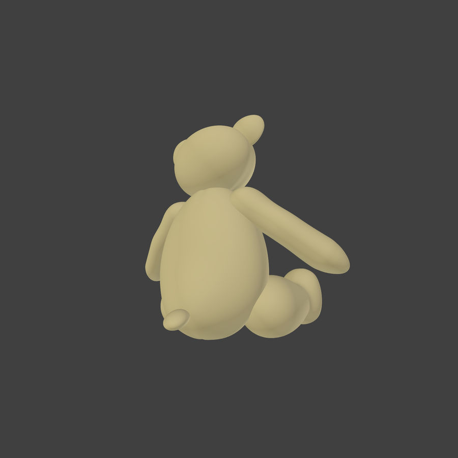 Teddy Bear High Poly royalty-free 3d model - Preview no. 9