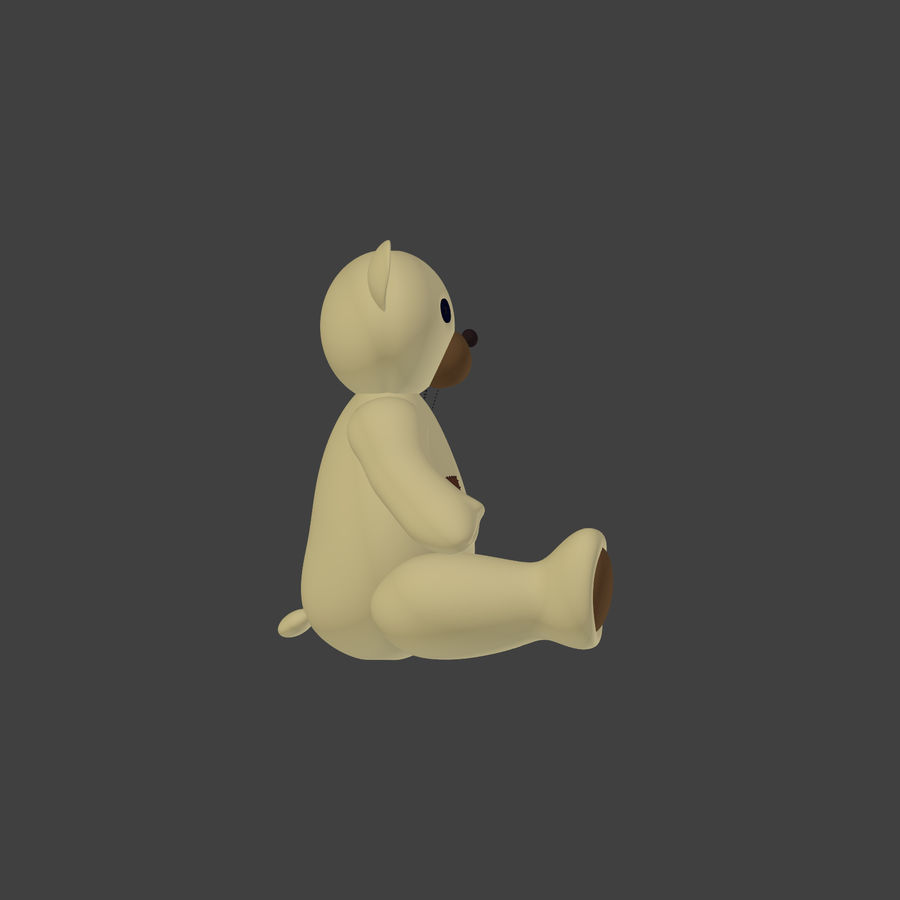 Teddy Bear High Poly royalty-free 3d model - Preview no. 3
