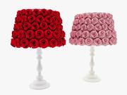 Lampa pokryta różą 3d model