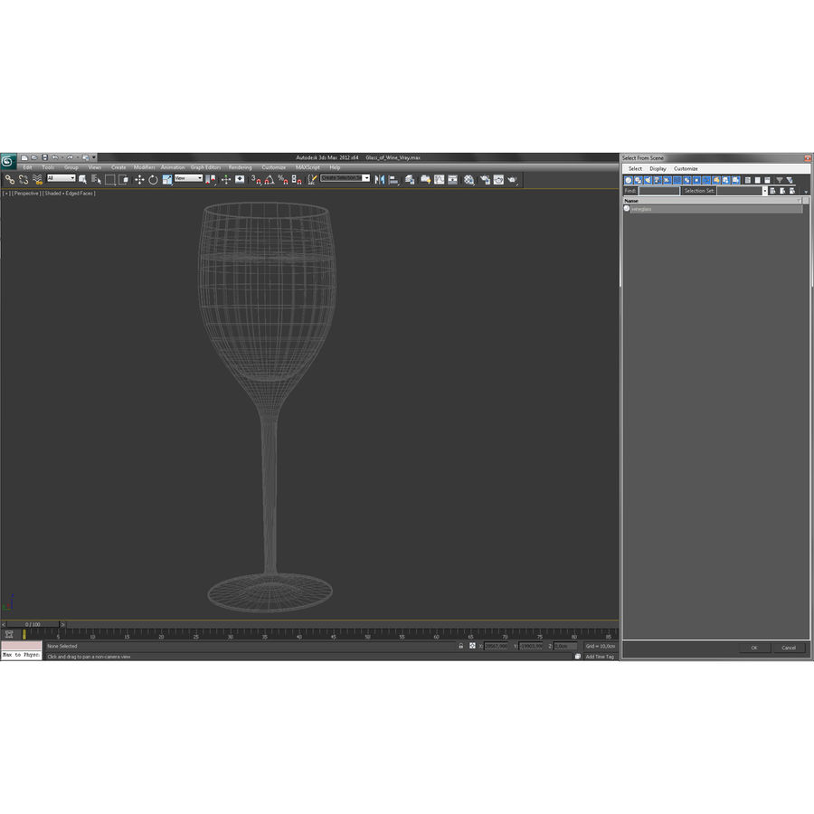 Glass of Wine royalty-free 3d model - Preview no. 15