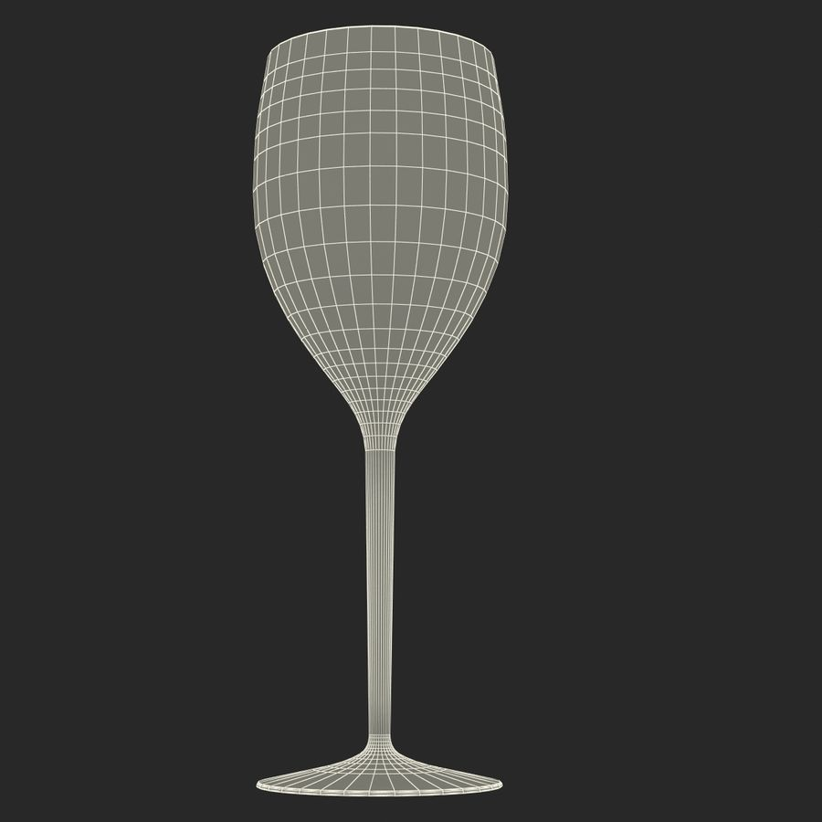 Glass of Wine royalty-free 3d model - Preview no. 14