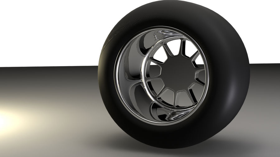 Koło F1 royalty-free 3d model - Preview no. 4