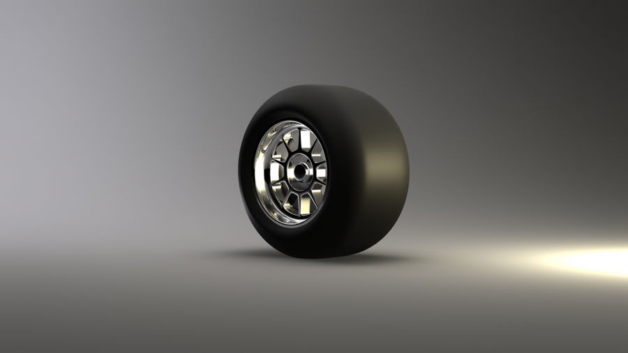 Koło F1 royalty-free 3d model - Preview no. 3