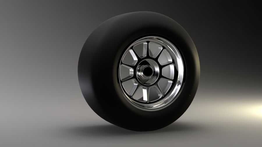 Koło F1 royalty-free 3d model - Preview no. 1