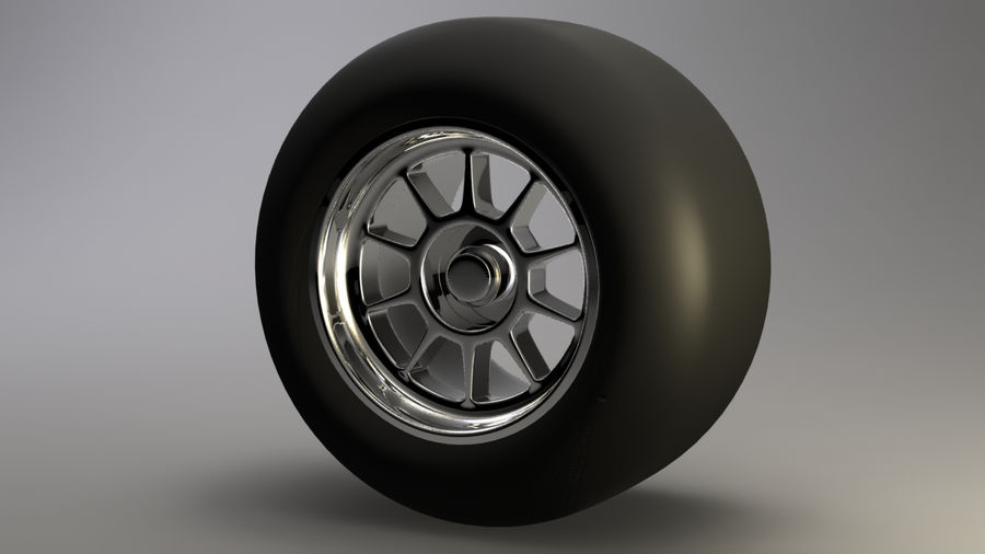 Koło F1 royalty-free 3d model - Preview no. 2